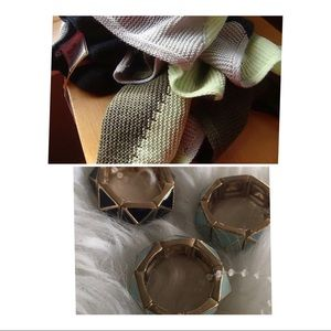 NWT Scarf &  3Cocktail Rings